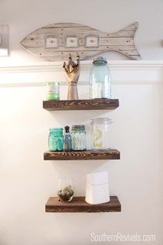 DIY Nautical Bathroom Makeover ! So many Great Ideas and Tutorials !