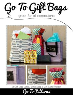 Gift bag sewing pattern