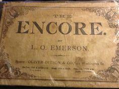 song book, encor song, book worth