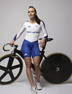 """Agree 5' 5"""" 135 lbs of  Gold Medal Sprinters.   When it comes to track cycling, Vicky Pendleton is one of the best of all time"""