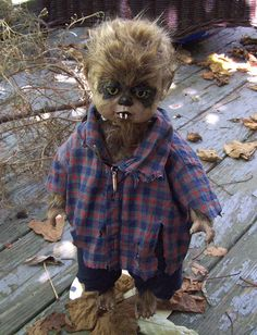 WEREWOLF JACOB DOLL Horror Goth Scary Monster Altered by Oddsurd, $48.00