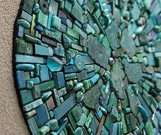 Nebula Aqua mosaic by Sonia King Mosaic Artist