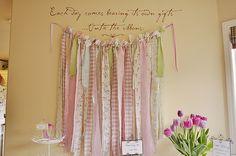 Ribbon wall - bridal shower