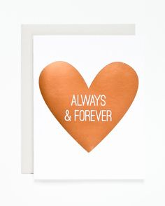 Always and Forever Copper Foil Card | Sycamore Street Press