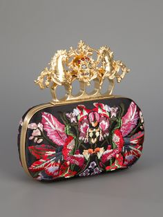 ALEXANDER MCQUEEN - Embroidered Knuckle Duster Clutch