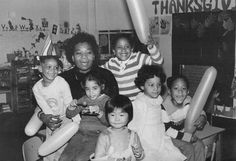 Student's children celebrate a birthday at our Children's Center, the on-campus licensed day care center, under the supervision of teacher-director Ida Fels.