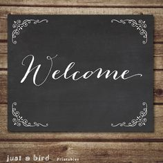 Chalkboard Welcome Sign, wedding reception sign, chalkboard Wedding welcome sign,Chalkboard Home Decor, Housewarming gift, Instant Download on Etsy, $5.00