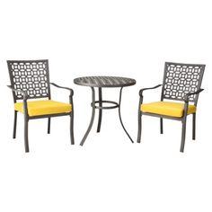 patio furniture yellow