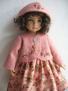 Embroidered Felt Coat For Little Darling