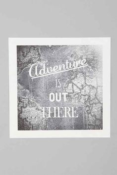 Zach Terrell Adventure Is Out There Art Print - Urban Outfitters