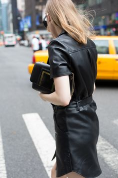 @Carolinaengman Holding the ALBA Bag at NYFW