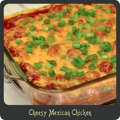 Recipe—Cheesy Mexican Chicken. Not usually my thing but I might make some variations and try it.