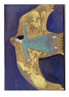 angel, fli, dream, inspir, yuko hosaka, paint, birds, illustr, art rooms