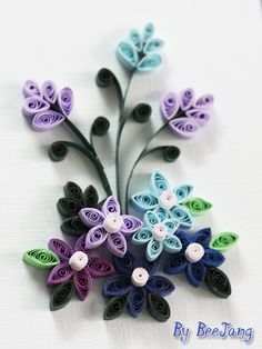 Blue Spring - Quilled Creations Quilling Gallery