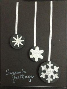Christmas card using various snowflake dies