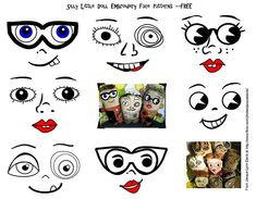 free doll face patterns