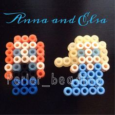 Anna and Elsa - Frozen perler bead design by perler_beading