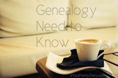 6 #Genealogy Things You Need to Know Today, Sunday, 1 June 2014, via 4YourFamilyStory.com. #needtoknow #familytree