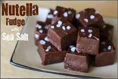 nutella fudge with sea salt