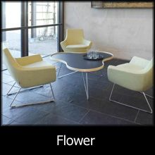 Flower coffee tables by hightower