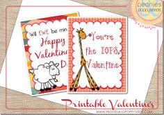 #Printable #Valentines for kids (no extras required. Just print, cut, and send!)