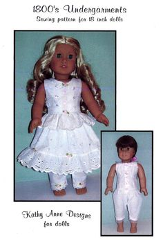 PDF file 18 inch doll 1800's doll by KathyAnneDesigns on Etsy, $4.99