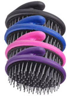 Saddles Tack Horse Supplies - ChickSaddlery.com Tough-1 Palm Grip Round Mane/Tail Brush