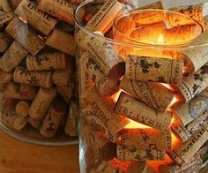 corks as a candle vessel.. yes!