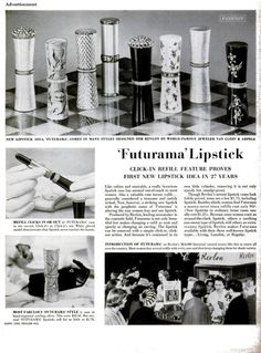 1956 LIFE ad for Revlon's collaboration on a line of lipstick cases with Van Cleef & Arpels