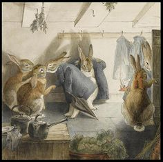 Beatrix Potter, The Rabbits' Christmas Party - The Departure