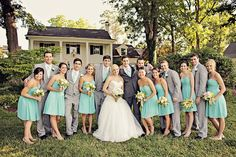 Perfectly dressed wedding party. Photo by Ginny Corbett Photography. www.wedsociety.com #wedding #party #southern #inspiration
