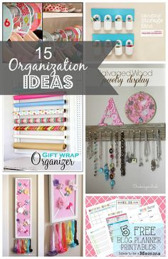 15 Organization Ideas - Made To Be A Momma