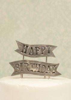 Birthday Banner Cake Topper