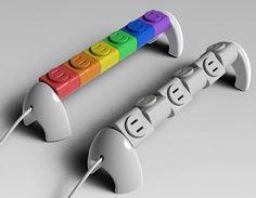 Lego Style Rotating Power Strip