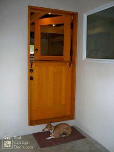Dutch door with dog