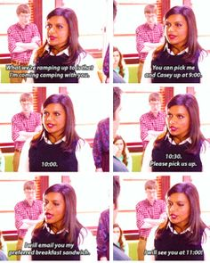 Camping. The Mindy Project