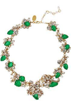 Erickson Beamon|White Wedding gold-plated Swarovski crystal necklace|NET-A-PORTER.COM