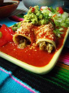 Chile Verde Beef Enchiladas - Hispanic Kitchen