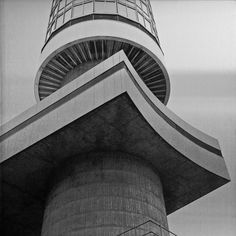 Post Office Tower, London, 1961-1964. Architects: Eric Bedford and G. R. Yeats, Ministry of Public Building and Works.