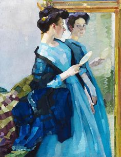 Leo Putz - At the Mirror (1908) by Cea., via Flickr