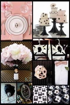 Pink and Black Wedding Inspiration