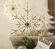 Hanging Light-up Snowflakes | Pottery Barn Kids