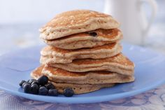 Whole Grain Blueberry Pancakes With Flax for Babies