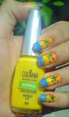 Tropical nails would never do this but think it looks really cool