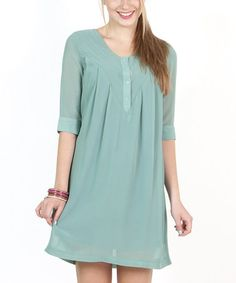 Take a look at this Blue Marine Tablas Heaven Dress by Titis Clothing on #zulily today!