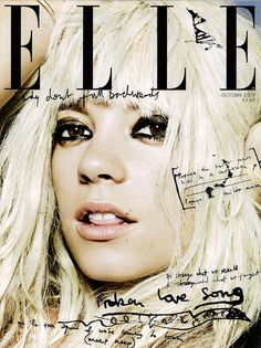 ELLE magazine cover   nice hand-lettering