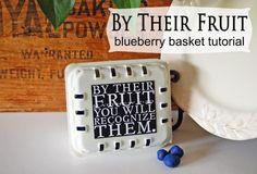 blueberri basket, basket project