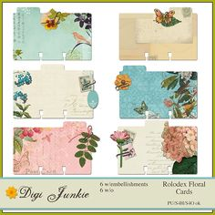 Rolodex Floral Cards