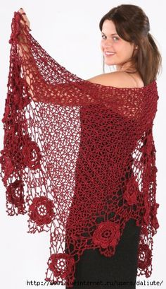 Crochet gold: Wonderful shawl edge !!!