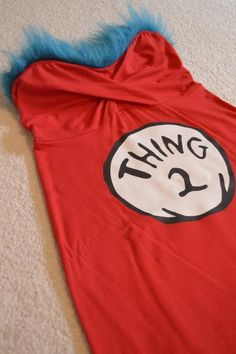 thing 1 and 2 printables and hair pieces for Dr. Seuss week at school